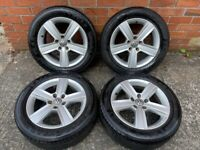 16'' GENUINE VW GOLF MK7 MK6 DOVER ALLOY WHEELS TYRES ALLOYS 5G0601025BP 5X112