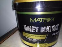 5 Kg Whey Matrix chocolate and 240 Matrix BCAA Tablets