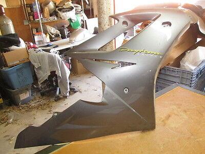 Triumph OEM Gray Right Side Upper Fairing Cowl Panel Daytona Triple 2307530