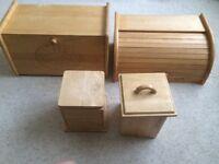 Wooden storage set for kitchen