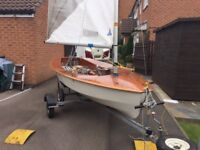 National Solo sail number 4425 edge sail built by Severn Sailboats