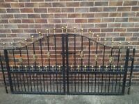 Thick Heavy Duty Wrought Iron Gates for 8FT opening