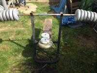 Bench weights and bar
