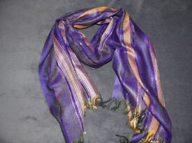 Beautiful, colourful scarves of various designs