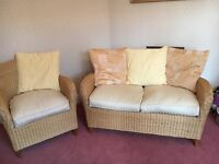 The Pier Wicker Conservatory Sofa and Chair set.