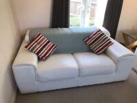 White leather sofa 2 seater