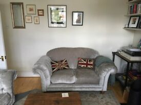 Very Good condition two piece sofa suite, 1 year old - Handmade in Wales