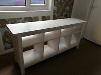 IKEA HEMNES Console table, white stain, disambled