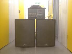 P.A System - Yamaha EMX 512SC Powered Mixer & 2 Peavey UL-15 Speakers