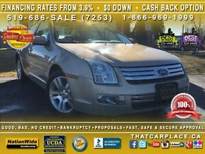 2008 Ford Fusion SEL-$53wk-Alloys-ABS-CD-USB-Leather-Cruise