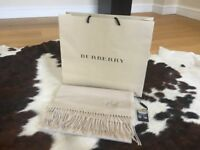 Authentic Burberry scarf 100% cashmere oatmeal
