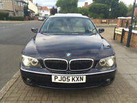 BMW 750i 2005 7 SERIES 5 DR BLUE FULL SERVICE HISTORY IMMACULATE CONDITION