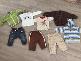 Baby boy jeans, tops, jacket etc. bundle 6-9 months NEXT, Benetton etc.