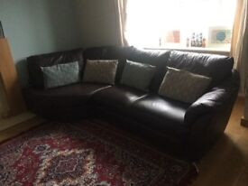 """Luxury Leather Sofa For SALE (Bargain price) """"PRICED TO GO"""""""