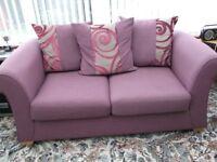 Light mauve 2-seater double sofa bed