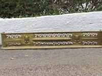 Antique Brass Fender kerb. Good Condition. Large: 1.3m long x 20cm high.