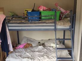 Bunk bed- double at bottom