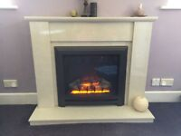Marble BeModern Fireplace with Suite Mounted Electric Fire