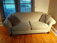 """Couch with matching chairs, two 24"""" stools"""