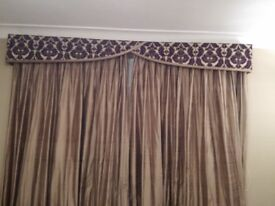 Silk lined curtains