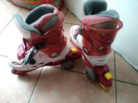 Mint condition roller skates adjustable size from size 30 to 33