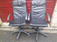 Pair of Executive office chairs