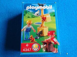 Playmobil-Ninos-arbol-de-gato-gatos-Kids-with-cat-tree-Kinder-Katzenbaum-4347