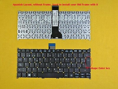 New For Acer Aspire V5-122P V5-132 V5-132P Keyboard Spanish Teclado Non-Backlit