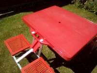 Fold up picnic table