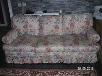 SOFAS 3+2 floral, removable covers
