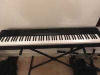 Casio CPD 120 weighted 88 key electric keyboard with stand.