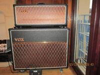 VOX AC15 CUSTOM VALVE HEAD AND V212C 2 x 12 Fane speakers