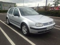 VOLKSWAGEN VW GOLF TDI 2003 CLEAN INSIDE OUT SERVICE HISTORY DRIVES BRILLIANT LIKE FOCUS LEON 307