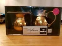 Gold and Black Cream and sugar set. Lawrence Llewyn-Bowen designed