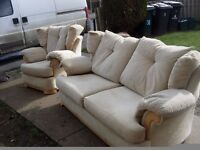 3 seater settee and 1 chair