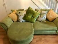 DFS 4 Seater pillowback lounger sofa & cuddle chair/sofa