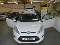 2010 FORD FIESTA 1.6 ZETEC S, WHITE 3DOOR, FULL SERVICE, VERY CLEAN CAR, DRIVES LIKE NEW.