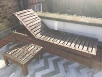 garden chair, table