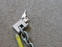 motorcycle chain and padlock Trailer security