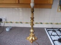 Gold coloured table lamp good condition