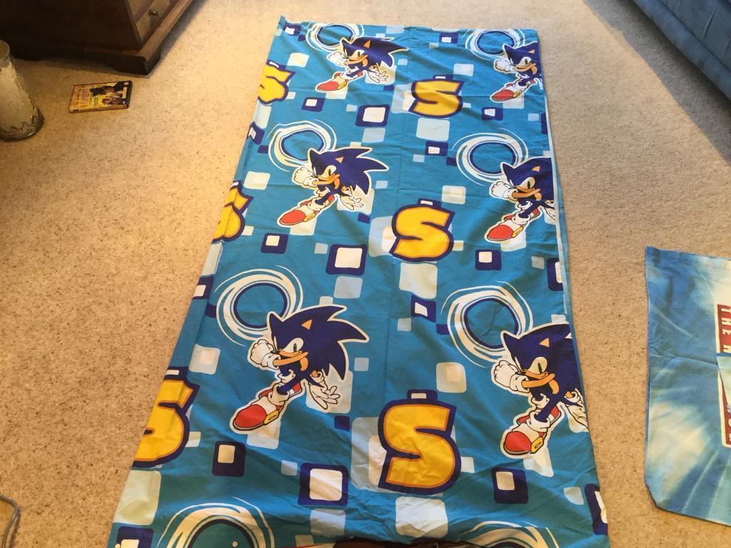 Sonic Hedgehog Double Duvet Cover Amp 2 Pillowcases In