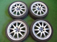 "FORD MONDEO GALAXY FOCUS TRANSIT CONNECT C-MAX S-MAX 18"" ALLOY WHEELS SILVER"