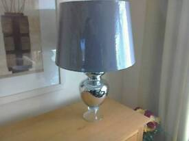 Lovely silver glass lamp from show house
