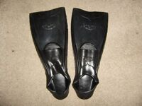 Flippers, size 44-46, never used