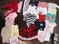 Massive baby girls 33 piece 9-12 12-18 months clothes bundle Disney next mothercare