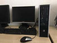 HP dc 5850 MT Amd dual core 2.3 ghz 4gb ram 250gb hdd lcd monitor windows 10 fully refurbished pc