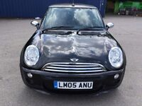 2005 MINI COOPER ONE CONVERTIBLE 1.6 PETROL - NEW 12 MONTHS MOT - FULLY SERVICED