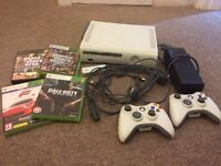 XBOX 360 complete with controllers, leads, wireless adapter and games !GTA V and San Andreas!