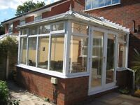 Conservatory - White uPVC approx 11' x 9'