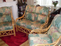 Cane 3 Piece Conservatory Furniture - Wicker, Cane Chairs
